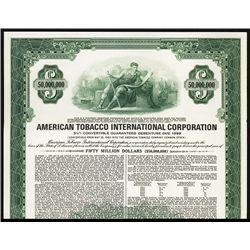 American Tobacco International Corp. Specimen Bond.