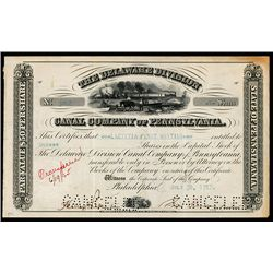 Canal Company of Pennsylvania Issued Stock.