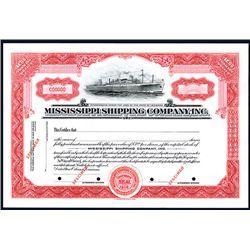 Mississippi Shipping Co. Inc. Specimen Stock.