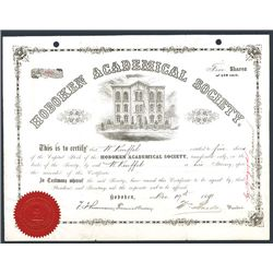 Hoboken Academical Society Issued Stock.