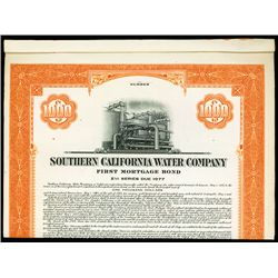 Southern California Water Co., Specimen Bond.