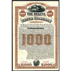 Helena (Montana) Water Co., Specimen Bond.