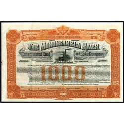 Monongahela River Consolidated Coal and Coke Co. Specimen Bond.