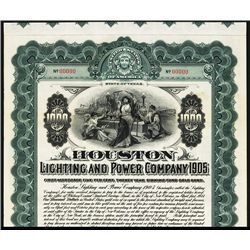 Houston Lighting and Power Co. Specimen Bond.