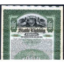 Seattle Lighting Co., Specimen Bond.