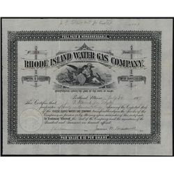 Rhode Island Water Gas Co., Issued Stock.