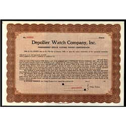 Depollier Watch Co., Specimen Stock.