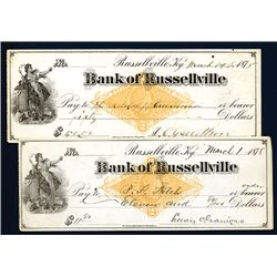 Bank of Russellville, Issued Check.