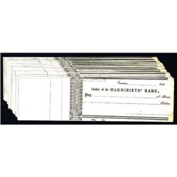 Machinists' Bank, Unissued Checks Lot of 26.