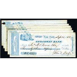 Broadway Bank, Issued Checks Lot of 4.