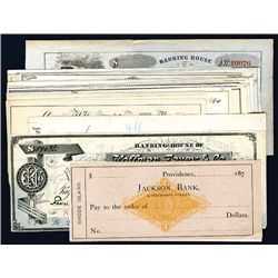 Assortment of Issued and Unissued Checks from New England, Lot of 27.