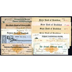 Assortment of Issued Checks, Lot of 12.