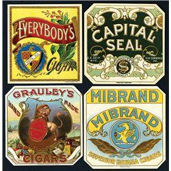 Colorful Cigar Box Labels, Lof of 4.