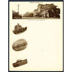 Territory of Hawaii Letterhead with Sephia Photo Scenes of Hawaii.