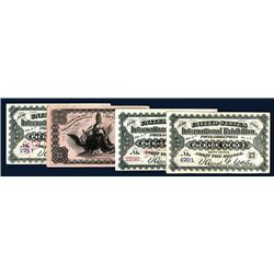 U.S. International Exhibition Package Tickets, Lot of 4.