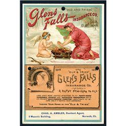Glens Falls Insurance Co., 1889 Annual Calendar.