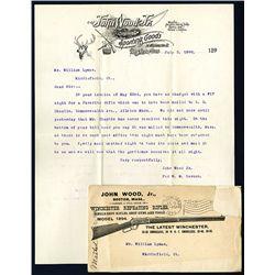 John Wood Jr. Sporting Goods, Letterhead and Envelope.