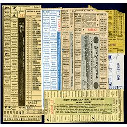 Assortment of Early 20th and late 19th Century Railway Tickets, Lot of 8.