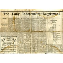 Daily Independent - Supplement, Virginia City, Nevada, 1874.