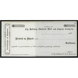 Holladay Overland Mail & Express Co. Waybill and CD.