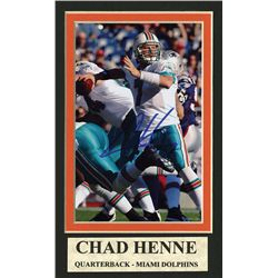 Chad Henne Autographed Mat.