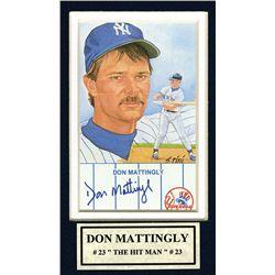 Don Mattingly Autographed Mat.