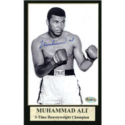 Muhammad Ali Autographed Mat.
