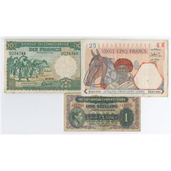 African Banknote Trio.