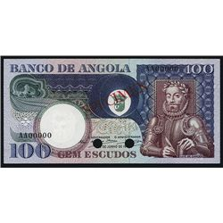 Banco De Angola 1973 Issue, Color Trial Specimen.