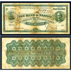 Bank of Nassau, 1906 Issue Banknote With Unlisted Date.