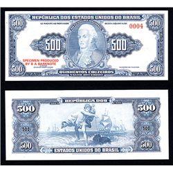 Republica Dos Estados Unidos Do Brasil, Essay Banknote by BABNC.