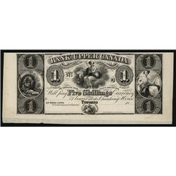 Bank of Upper Canada, ca.1830's Obsolete Proof.