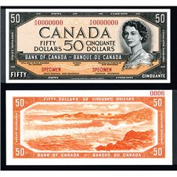 "Bank of Canada 1954 $50 ""Devil's Face Hairdo"" Issue Specimen"
