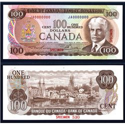 Bank of Canada, 1975 Issue Specimen Banknote.