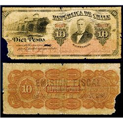 Republica De Chile, 1898 Provisional Issue Rarity Discovery Note.