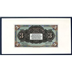 Russo-Asiatic Bank, ND (1917) Issue Proof Banknote.