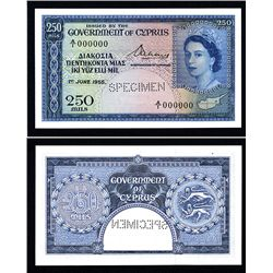 Government of Cyprus, 1955 Issue Specimen.