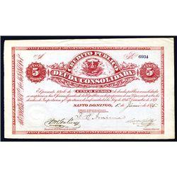 Credito Publico Deuda Consolidada, 1876 Issue.