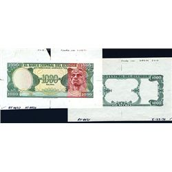 Banco Central Del Ecuador, Uniface Proof and Possible Essay, 1984-88 Issue.