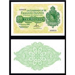Government of the Falkland Islands, 1975 Issue Banknote.