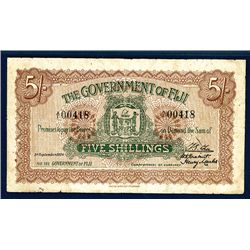 Government of Fiji, 1920 Issue Banknote.