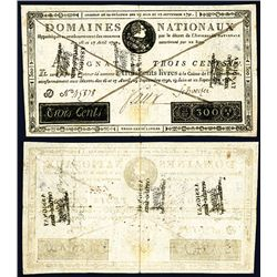 Domaine Nationaux - Assignats, 1791 Second issue.