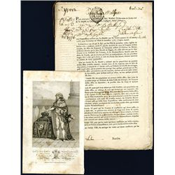 """French """"Rentes"""" 1767 Alsace Loan Document."""