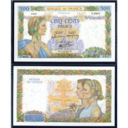 Banque De France, 1941-43 Issue High Grade Banknote.