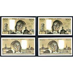 Banque De France, 1987 High Grade Sequential Pair of Banknotes.