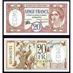 Banque De L'Indochine, ND (1928-38) Issue Specimen Banknote.