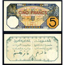 Banque De L'Afrique Occidentale, 1919 Issue.