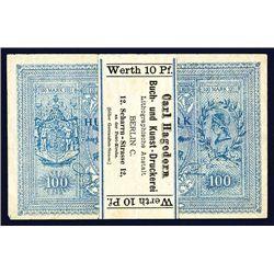 German Printing Company Advertising Banknote Look-a Like Circa 1880-1900.