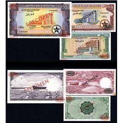 Bank of Ghana. 1958 Issue Specimen Set of 3.