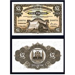 Government of Gibraltar, 1934 Ordinance; 1958 Issue Banknote.